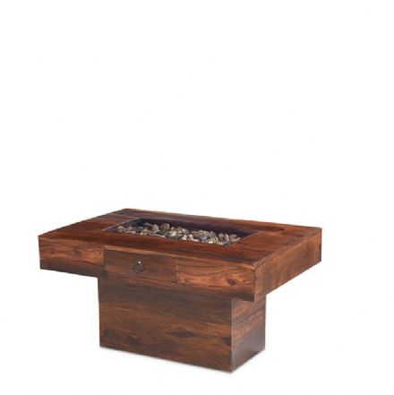 Jali Sheesham Wood Pebble Coffee Table